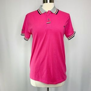 Tommy Hilfiger Pink Polo Shirt Short Sleeve Size M